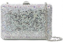 Rodo - crystal covered clutch - women - Leather - One Size - GREY