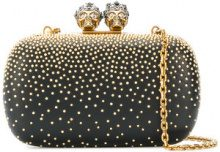 Alexander McQueen - Clutch 'Queen and King' - women - Calf Leather - One Size - BLACK
