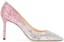 Jimmy Choo - Romy 85 glitter gradient pumps - women - Calf Leather/PVC/Leather - 38.5, 39, 36.5, 38, 40, 36 - METALLIC
