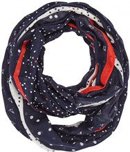Tom Tailor DENIM Patchwork Loop Scarf, Cappello in Felto Donna, Blu (True Dark Blue 01 6416), Taglia unica
