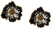 Sonia Rykiel - Orecchini 'Pansy' - women - Brass/Epoxy Resin - OS - BLACK