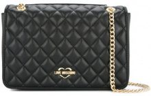 Love Moschino - quilted chain strap bag - women - Polyurethane - OS - BLACK