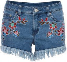 Hotpants con fiori ricamati (Blu) - RAINBOW