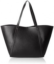 PIECES Pcroberta Shopper -  Donna, Schwarz (Black), 18x29x51 cm (B x H T)
