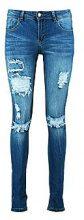 Hannah jeans skinny a vita media con strappi leggeri