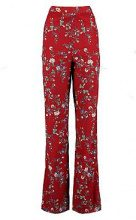 Plus pantaloni a gamba larga con stampa floreale Rina