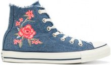 Converse - Sneakers con fiori ricamati - women - Canvas/rubber - 4.5, 5.5, 6, 7, 7.5 - BLUE