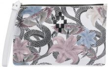 Marcelo Burlon County Of Milan - Flowers Snakes clutch bag - women - Cotton/Leather - OS - WHITE