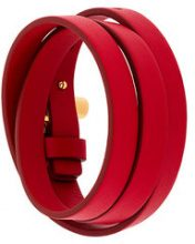 Tom Ford - Bracciale a giro con fibbia - women - Calf Leather/Brass - OS - RED