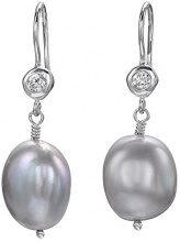 Dower & Hall Donna  925  Argento Ovale   grigio  FINEEARRING