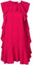 Red Valentino - Abito con balze increspate - women - Acetate/Viscose - 40, 42, 44, 46, 38 - PINK & PURPLE