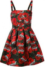 Philipp Plein - vestito a rose - women - Polyamide/Polyester - S, M - RED