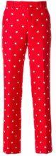 Maison Kitsuné - Pantaloni con stelle - women - Cotton/Polyester - 38 - RED