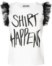 Moschino - Shirt Happens T-shirt - women - Cotone/Polyamide - 42 - Bianco