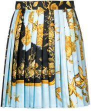 Versace - Mini gonna plissettata - women - Silk - 38, 40, 42 - BLUE