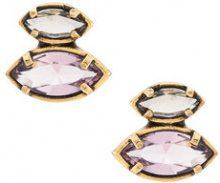 Camila Klein - crystal embellished earrings - women - metal - OS - METALLIC