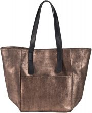 Borsa shopper in pelle metallizzata (Nero) - bpc bonprix collection