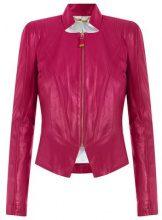 Tufi Duek - leather jacket - women - Acetate/Leather - 40, 44 - PINK & PURPLE