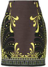 Versace Collection - Minigonna stampata - women - Polyester/Spandex/Elastane/Viscose - 44 - BROWN