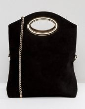 Miss KG - Thea - Pochette a battente con cut-out e tracolla rimovibile - Nero