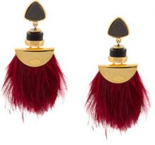 Lizzie Fortunato Jewels - Orecchini 'Parrot' - women - Gold Plated Brass - OS - PINK & PURPLE
