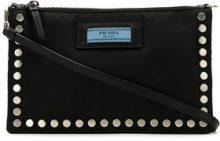 Prada - studded shoulder bag - women - Polyamide - OS - Nero
