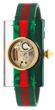 Gucci - Orologio 'Vintage Web 24x40mm' - women - Polyester/Plexiglass - OS - GREEN