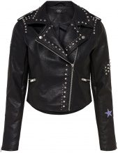 ONLY Detailed Faux Leather Jacket Women Black