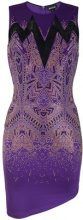 Just Cavalli - sheer panel studded mini dress - women - Spandex/Elastane/Viscose - 36, 38, 40, 42, 44, 46 - PINK & PURPLE