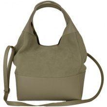 Borsa Shopping Dream Leather Bags Made In Italy  Borsa Donna Shopper In Vera Pelle Scamosciata Colore Taupe Chiar