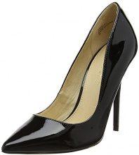 OfficeOn Tops W - Scarpe col Tacco Punta Chiusa Donna, Nero (Black (Black Patent)), 39