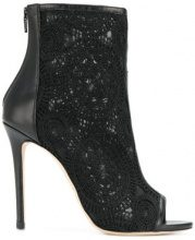 Marc Ellis - open toe boots - women - Leather/Nylon/Polyester - 35, 36, 38, 40 - BLACK