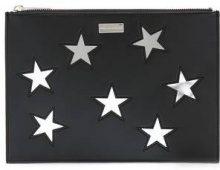 Stella McCartney - embroidered Stars clutch bag - women - Polyurethane - OS - BLACK