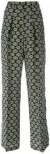MSGM - eyes print straight trousers - women - Silk/Polyester - 38, 40, 42 - Nero