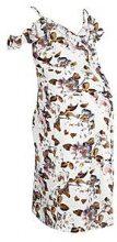 Leah abito longuette premaman con stampa floreale e spalle scoperte