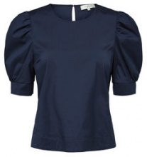 SELECTED Puff Sleeve - Short Sleeved Top Women Blue