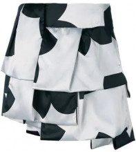 Giorgio Armani Vintage - layered printed skirt - women - Polyester/Spandex/Elastane - 42 - Nero