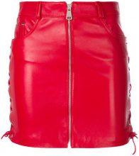 Manokhi - Gonna corta con zip - women - Leather/Polyester/Viscose - 34, 36, 38, 40 - Rosso