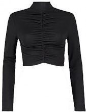 Georgie Ruched High Neck Long Sleeve Top