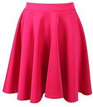 Jess Basic Scuba Skater Skirt