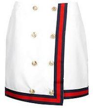 Leanne Button Front Contrast Trim Mini Skirt