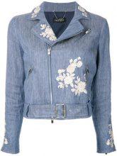 Twin-Set - embroidered denim jacket - women - Cotton/Linen/Flax/Polyester - 38, 40, 42, 44, 46, 48 - BLUE