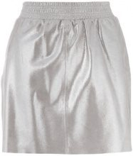 Arma - short a-line skirt - women - Goat Skin/Polyester - 32, 36, 38 - METALLIC