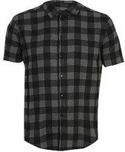 Big And Tall Short Sleeve Check Shirt