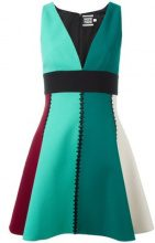 Fausto Puglisi - Vestito con scollo a V - women - Acetate/Viscose/Silk/Wool - 42 - GREEN