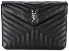 Saint Laurent - Clutch 'Lou Lou' - women - Leather - One Size - BLACK