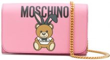 Moschino - Portafoglio 'Teddy Playboy' - women - Calf Leather/Polyurethane - One Size - PINK & PURPLE