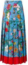 Gucci - floral print skirt - women - Silk - 38 - BLUE