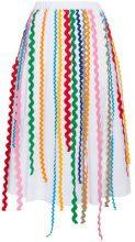 Mira Mikati - Gonna midi - women - Cotton/Polyester/Spandex/Elastane/Acetate - 38, 36 - WHITE