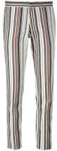 Giambattista Valli - striped skinny fit trousers - women - Cotton/Spandex/Elastane - 40, 44 - BLACK